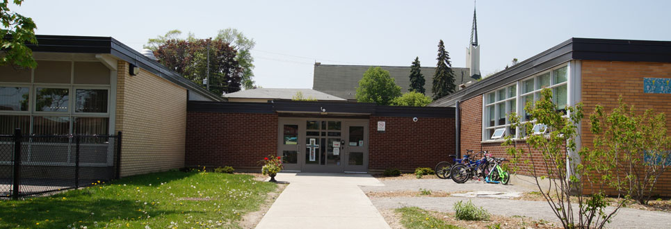 Exterior of the school